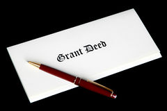 Real Estate Grant Deed Documents Stock Photos