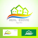 Real estate green house logo Stock Photography