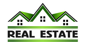 Real Estate Green Houses Logo Stock Images