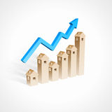 Real estate growth Stock Photos