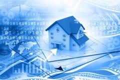 Real estate growth graph. Digital illustration Stock Photo