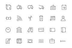 Real Estate Hand Drawn Doodle Icons 5. This trendy set of real estate  icons are just perfect for real estate agencies and home insurance agencies, adverts and Stock Photos