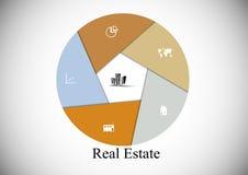 Real Estate hexagon infographic Stock Photo