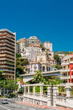 Real estate, high-rise buildings in the downtown area in Monaco, Royalty Free Stock Photo