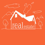 Real Estate-Hintergrundmalerei für Kinder Lizenzfreie Stockfotografie