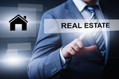 Real Estate hipoteki zarządzania czynszu zakupu Majątkowy pojęcie Obraz Royalty Free