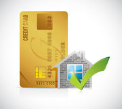 Real estate home approve credit card Royalty Free Stock Photography
