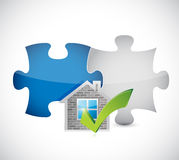 Real estate home approve puzzle pieces Stock Images