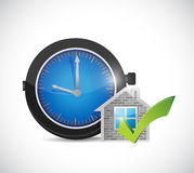 Real estate home approve watch illustration Royalty Free Stock Image