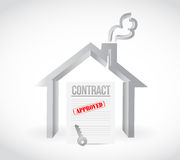 Real estate home contract illustration design Stock Photography