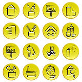 Real estate home icon Royalty Free Stock Photo