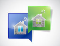 Real estate home message communication concept Stock Photos
