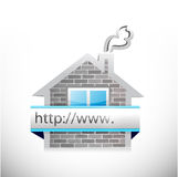 Real estate home and online search bar. Illustration design over a white background Royalty Free Stock Photo