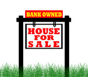 Real Estate home for sale sign Royalty Free Stock Photography