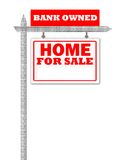 Real Estate home for sale sign Stock Image