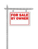 Real Estate home for sale sign Royalty Free Stock Photos