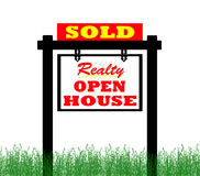 Real Estate home for sale sign, open house Stock Image