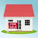 Real estate. Home for sale. Vector illustration. stock photos