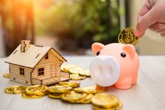 Real estate or home savings - piggy bank. Business concept Royalty Free Stock Photography