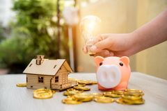 Real estate or home savings - piggy bank. Business concept Royalty Free Stock Image