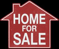 Real Estate Home Sign Business Royalty Free Stock Images