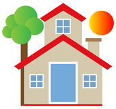 Real estate home Stock Photography