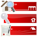Real Estate Horizontal Banners vector illustration
