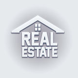 Real Estate House Card Sign. Stock Image