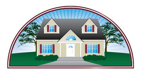 Real Estate House Emblem Stock Photo