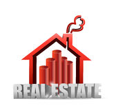 Real estate house graph chart Stock Photography