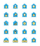 Real Estate & House icon, Monochrome color - Vector Illustration Royalty Free Stock Photo