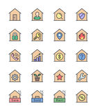 Real Estate & House icons, Color set - Vector Illustration Stock Photography
