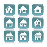 Real estate and house icons Stock Photos
