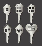 Real estate and house icons Royalty Free Stock Photography