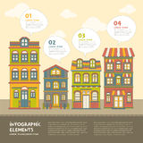 Real estate house infographics design Royalty Free Stock Photography