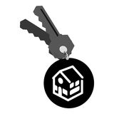 Real estate house keys. Vector illustration design Stock Images