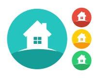Real estate house logo concept. Eps10 vector and color set Stock Photos