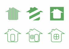 Real estate, house logo green Royalty Free Stock Photo