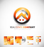 Real estate house logo icon design. Real estate house circle vector logo icon sign design template corporate identity Royalty Free Stock Image
