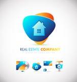 Real estate house logo icon design. Real estate house home vector logo icon sign design template Royalty Free Stock Photos