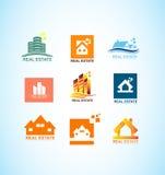 Real estate house logo icon set Royalty Free Stock Image