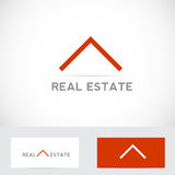 Real estate house logo. Vector company logo element template real estate abstract house roof icon simple Stock Photo