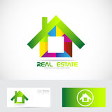 Real estate house logo. Vector company logo icon element template house real estate colors Stock Images