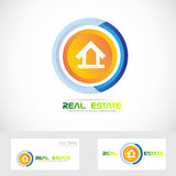 Real estate house logo. Vector company logo icon element template real estate house residential Stock Images