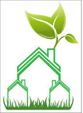Real estate house logo vector. Real estate house with tree logo vector eps10 Royalty Free Stock Photo