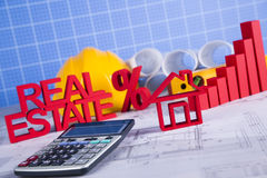 Real estate with house model. Commercial Real Estate and Architectural project Stock Photography