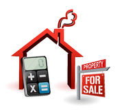 Real estate house and modern calculator Royalty Free Stock Photography