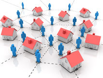 Real Estate - House with people Stock Photography