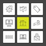 Real estate , house , property , money , eps icon set vector. Real estate , house , property , money , dollar , navigation , location , sale , purchase , search Royalty Free Stock Photos