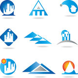 Real estate, house, roof, architecture. Property logos, house and roof, architecture logos Stock Photography